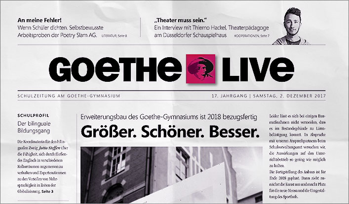 OUT NOW! – Das neue GOETHE LIVE