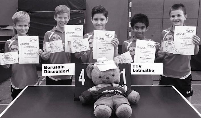 Schüler gewinnen Westdeutsche Tischtennis Meisterschaft