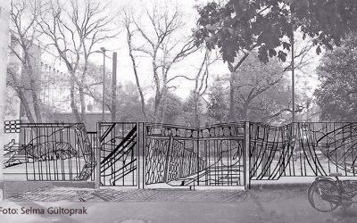 Künstlerin gestaltet Zaun für Goethe-Gymnasium