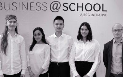 Goethe Schüler beim Business at School Regionalentscheid