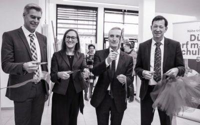 OB Thomas Geisel eröffnet den Erweiterungsneubau